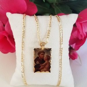 St. Anthony of Padua Picture Necklace